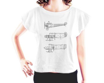 Three Airplanes shirt quote shirt cool tee workout t shirt women t shirt cute tops fashion funny style shirt cropped shirt crop shirt size S