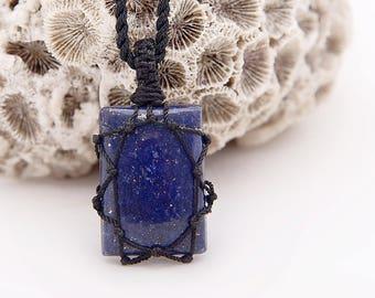 Men Gifts, For Boyfriend, Lapis Lazuli Pendant Necklace For Men, Boyfriend Gift, For Him, For Husband Gift For Man Gift September Birthstone