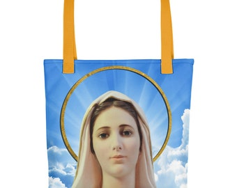 Tote bag - Our Lady of Medjugorje - catholic bags - Virgin Mary bag - catholic gift for her - Virgin Mary bags