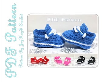Crochet Shoe Pattern Baby Nike Sneakers