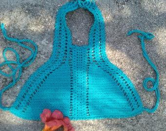 crochet top Elina Crochet Top Crop Top Hippie Boho Top Crochet Halter Top Vintage Crochet Top
