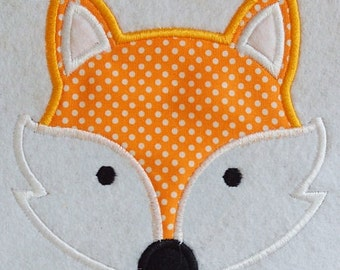 DIY Iron On Applique FOX FACE