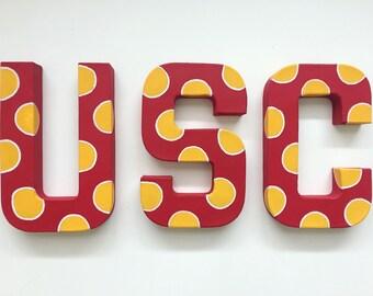 USC (California or S. Carolina) handpainted letters