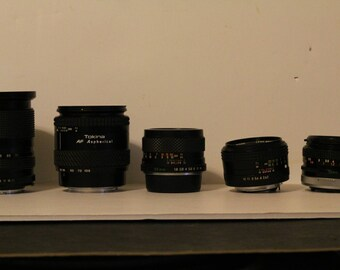 5 Vintage Camera Lenses