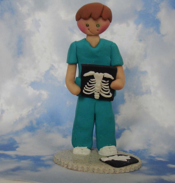 Radiography Tech Radiologist Cake Topper Doctor Nurse