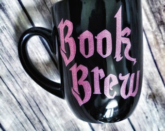 Book brew mug, Magical cup, witches brew, bookish, Coffee mug, book lover mug, readers gift, birthday gift, tea cup, halloween, witch, nerd
