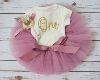 Rose gold birthday 'Rosy' rose gold first birthday outfit rose pink and gold girl vintage first birthday tutu outfit first birthday tutu