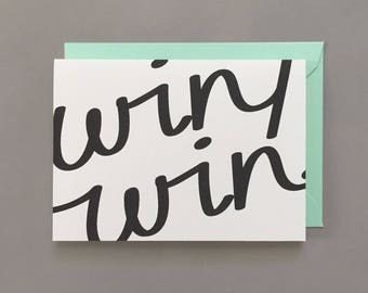 Win Win / Friendship Card / Relationship Card / Encouragement Card / Support Card / Relationship / Friendship / Positive / Greeting Card