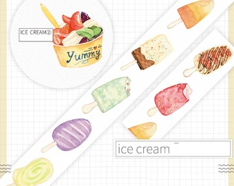 1 Roll of Limited Edition Washi Tape:  Ice Cream