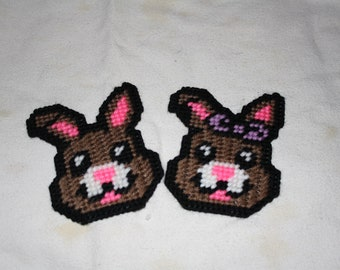 Boy and Girl bunny magnets