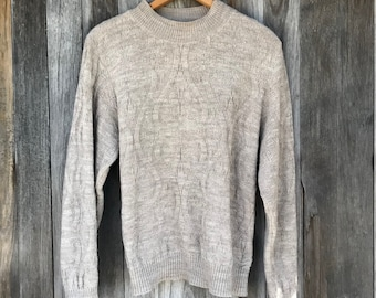 Cozy Knit Sweater, 90s Vintage, LargeFree Domestic Shipping