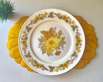 Vintage Mid century Floral Mikasa Plate, Serving Platter, Provencal Salem