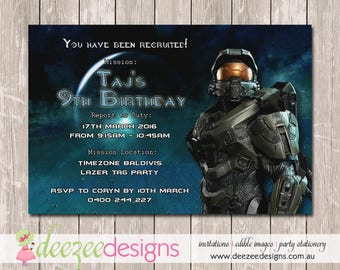Halo Birthday Invitation - YOU PRINT - BD122B