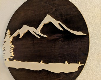 Mountain Landscape Plaque