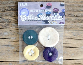 Giant Button Magnets (4pk)