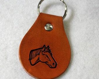 Leather Key Fob - Horse Head