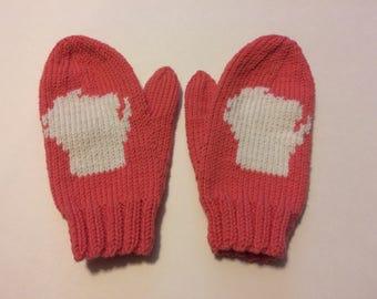 Children's Merino Wool Wisconsin Mittens