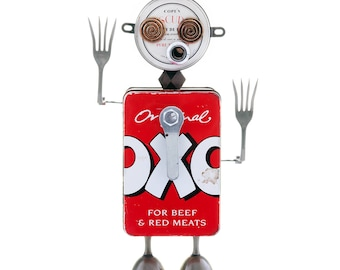 Found object robot named Oxo-dize. Creation No.12 of the TinFolk family