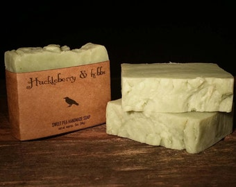 Sweet Pea Soap - Handmade soap, vegan soap, rustic soap, artisan soap, cold process soap