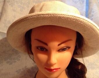 Linen Hat Size 7 - 7 1/4