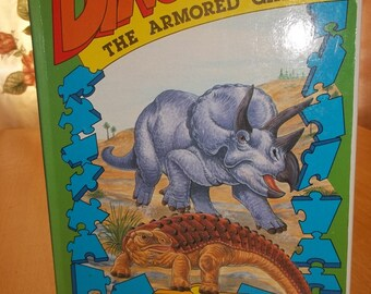 Dinosaur The Armored Giants Jigsaw Picture Puzzle Book 1988