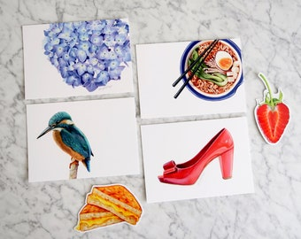 Variety Postcard & Sticker Pack