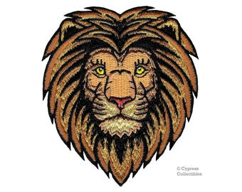 WILD LION PATCH embroidered iron-on Jungle Safari Souvenir African Animal King of the Jungle