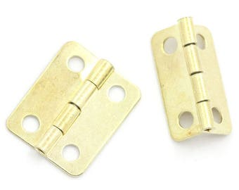 x 6 4 hole metal Golden small hinged box / chest 16 x 13 mm
