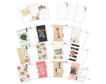 Personal Planner Inserts - Personal Inserts - Monthly Insert - Dividers - Filofax - Personal Size - Carpe Diem Bloom Collection - 021729