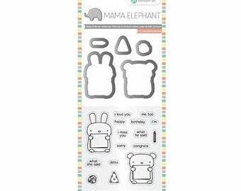 Mama Elephant Cut and Stamp Set by Hampton Art ~Dos Amigos~