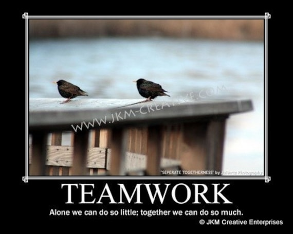 Motivational Quotes For Sports Teams: Items Similar To TEAMWORK Motivational Poster 11 X 14 On Etsy