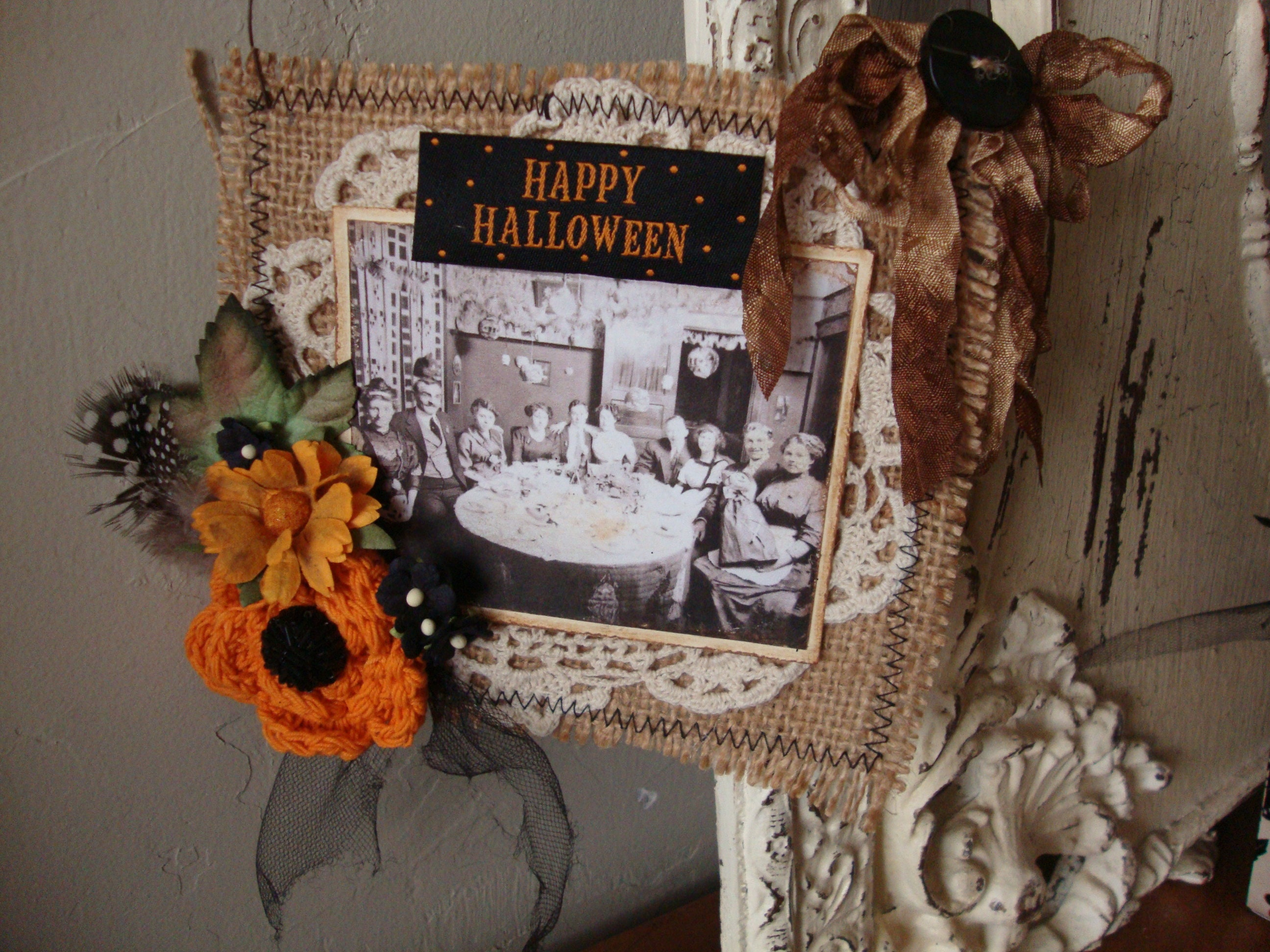 vintage style halloween decor victorian halloween ornament