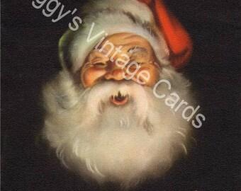 Vintage Christmas Santa Greeting Card Images on CD Vol 1
