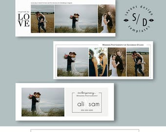 Wedding Photography, Facebook Timeline Template, Photoshop Templates, Set 2, INSTANT DOWNLOAD