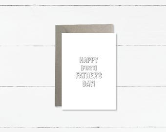 Happy (First) Father's Day Card