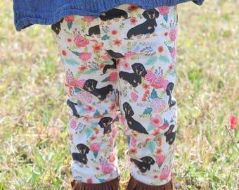 Floral Doxie Leggings
