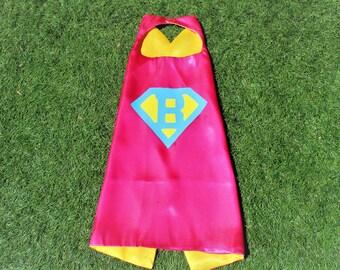 Girls Superhero Cape, super girl birthday party, custom superhero cape, super hero cape, kid personalized cape, girls personalized cape