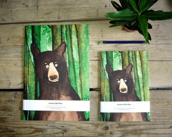 Forest Bear A5 notebook journal. Recycled & FSC certified sustainable paper. (148mm x 210mm).