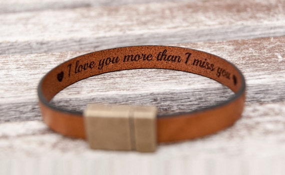 Gift For Boyfriend Gift For Him Personalized Fathers Day Gift Hidden Secret Message Bracelet Mens Personalized Leather Bracelet Mens Gift by Etsy