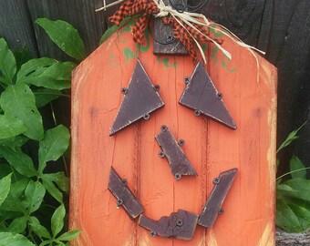 CuTe! Handmade wall or door hanging pumpkin