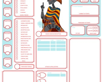 Dungeons and Dragons Custom Character Sheet