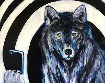 GREY WOLF SELFIE
