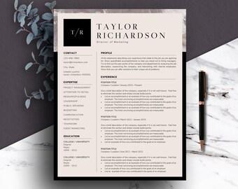 Professional Resume Template | Professional CV | Resume Template One Page | Two Page Resume | A4 Resume | Resume Template Download | CV