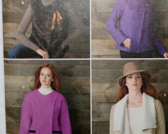 Simplicity 1758 Misses Jacket and Vest Sewing Pattern New/Uncut  Size: 6-8-10-12-14