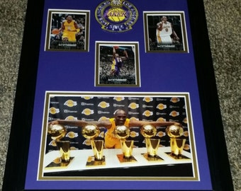 Kobe Bryant 5 Time NBA Champion 11x17