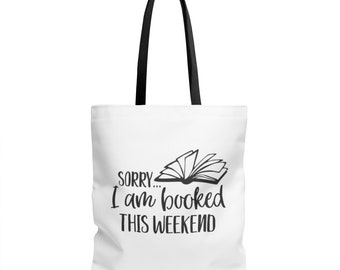 Weekend is Booked - Book Tote Bag - Book Tote - Reader Gift - Canvas Bag - Canvas Tote - Book Lover Gift - Book Bag - Librarian Gift - Book