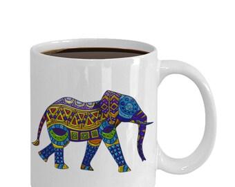 Elephant gifts. Coffee mug gift. Large 15oz mugs