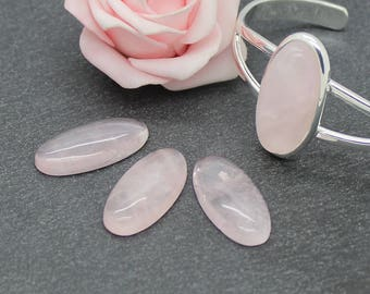 14 x 29 mm: navette stone cabochon pink CG60
