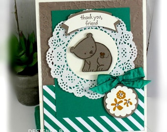 Thank You Card- Stampin' up Thank You, Friend