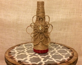 Decorative twine bottle, twine bottle, home decor, wedding decor, housewarming gift